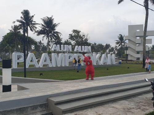 Alun Alun Paamprokan Menjadi Destinasi Favorite di Pantai Pangandaran