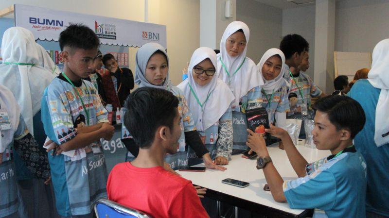 BNI dan RKB Pangandaran Rekrut Pelajar Jadi Pengusaha