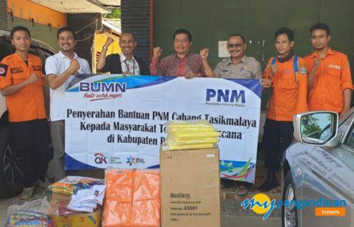 PNM ULaMM Berikan Bantuan tanggap bencana Ke BPPD Kab. Pangandaran